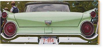 Light Green Classic Car Wood Print by Mick Flynn