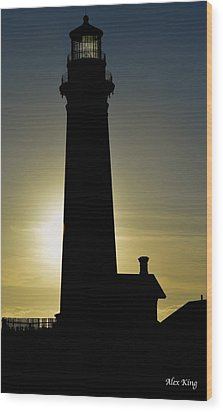 Wood Print featuring the photograph Light House by Alex King