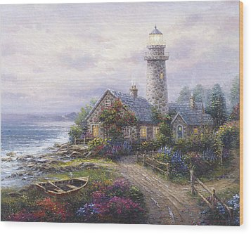 Light House Wood Print by Ghambaro