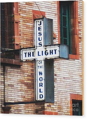 Light In The City Wood Print