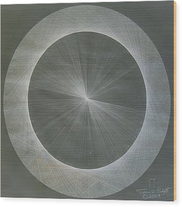 Light Is Pi  The Shape Of Pi Wood Print by Jason Padgett