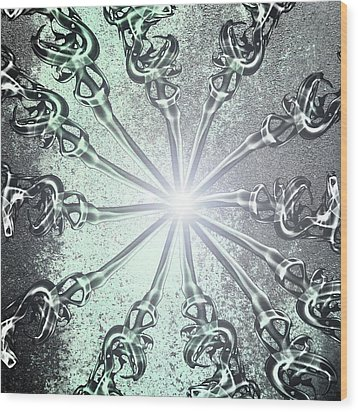Light Wood Print by Nina Peterka