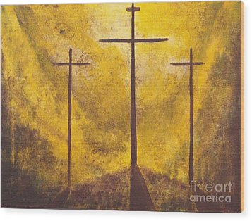 Light Of Salvation Wood Print by Wayne Cantrell