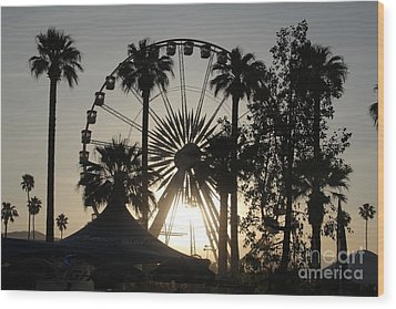 Light Of The Ride Wood Print by Chris Tarpening