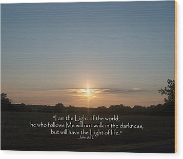 Light Of The World Wood Print