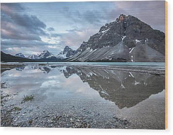 Light On The Peak Wood Print by Jon Glaser