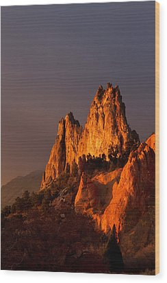 Wood Print featuring the photograph Light On The Rocks by Ronda Kimbrow