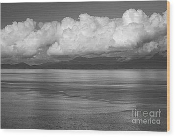 Wood Print featuring the photograph Light Over The Salish Sea by Inge Riis McDonald