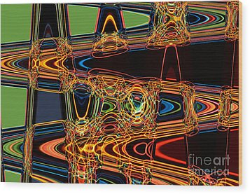 Light Painting 3 Wood Print by Delphimages Photo Creations