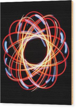 Light Patterns 002 Wood Print by Todd Soderstrom