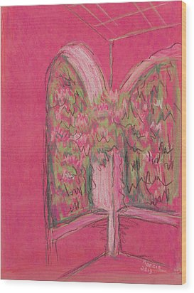 Light Pink Patio Wood Print by Marcia Meade