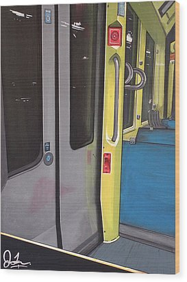 Light Rail Wood Print