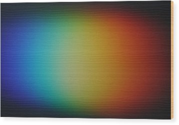 Wood Print featuring the photograph Light Refracted - Rainbow Through Prism by Denise Beverly