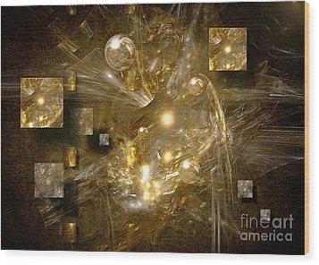 Wood Print featuring the digital art Light Sheeds by Alexa Szlavics