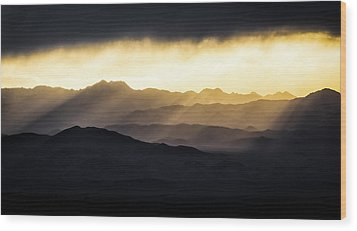 Wood Print featuring the photograph Light Shines In by Brian Bonham