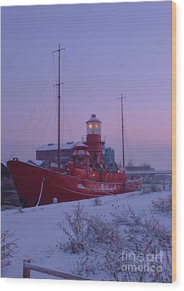 Wood Print featuring the photograph Light Ship by John Williams
