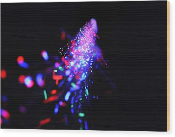Light Show1.2 Wood Print by Frederico Borges