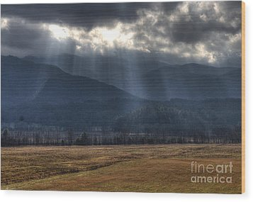 Light Shower Wood Print by Douglas Stucky