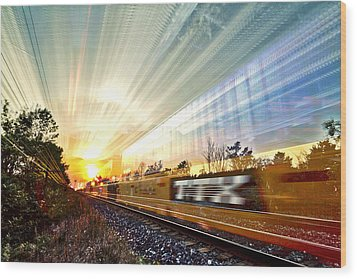 Light Speed Wood Print