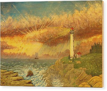 Light That Guides Thee  Wood Print by David Bentley