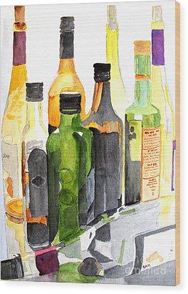 Light Through Glass Wood Print by Sandy McIntire