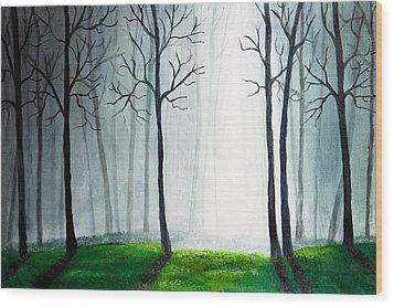 Light Through The Forest Wood Print by Nirdesha Munasinghe