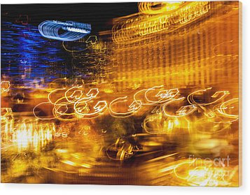 Light Trails Abstract 2 Wood Print