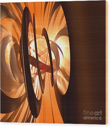 Light Transference Wood Print by Peter R Nicholls