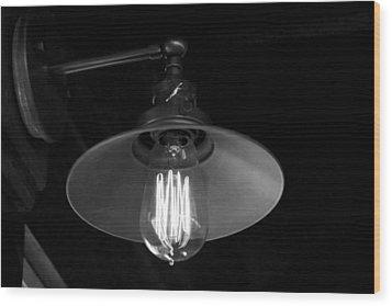 Lightbulb Wood Print