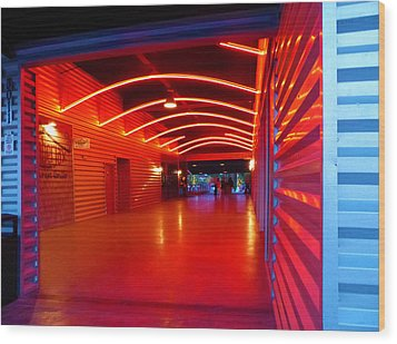 Lighted Breezeway - At Trinity Groves Wood Print