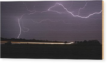 Wood Print featuring the photograph Lightening Bolts by Charles Beeler