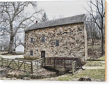 Lightfoot Mill At Anselma Chester County Wood Print by Bill Cannon