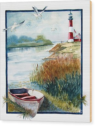 Lighthouse 1 Wood Print by Marilyn Smith