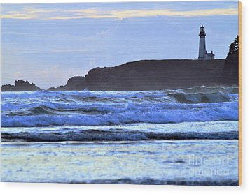 Lighthouse Blues Wood Print by Sheldon Blackwell