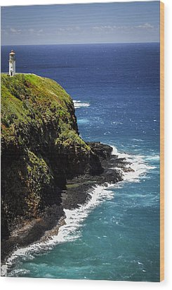 Wood Print featuring the photograph Lighthouse By The Pacific by Debbie Karnes