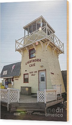 Lighthouse Cafe In North Rustico Wood Print by Elena Elisseeva