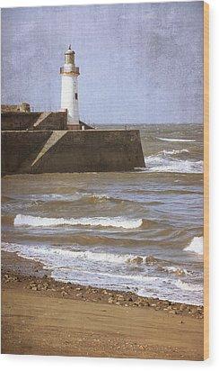 Lighthouse Wood Print by Amanda Elwell