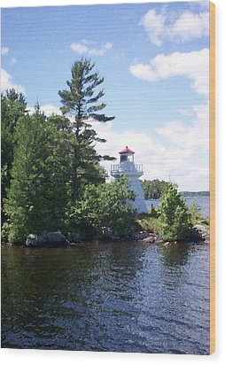 Lighthouse Island Wood Print