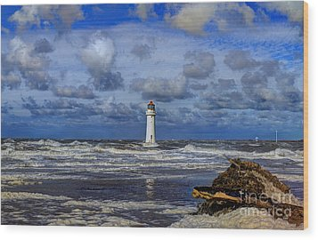 Lighthouse Wood Print by Spikey Mouse Photography
