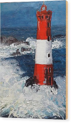 Lighthouse Keeper Wood Print