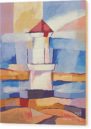 Lighthouse Wood Print by Lutz Baar