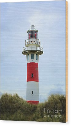 Lighthouse Newport Wood Print by LHJB Photography