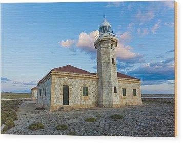 Lighthouse Of Punta Nati Wood Print by Antonio Macias Marin