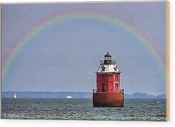 Lighthouse On The Bay Wood Print by Brian Wallace