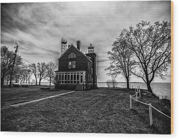 Lighthouse Put-in-bay Wood Print by Kevin Cable