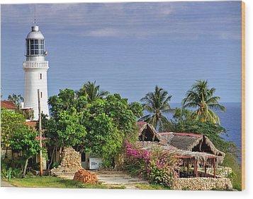 Lighthouse Santiago De Cuba Wood Print by Lynn Bolt