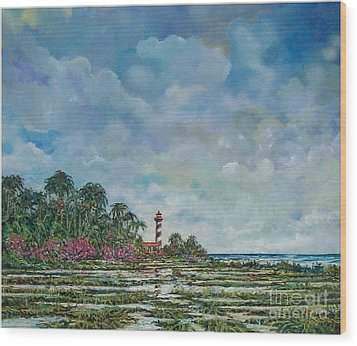 Lighthouse Wood Print by Sinisa Saratlic