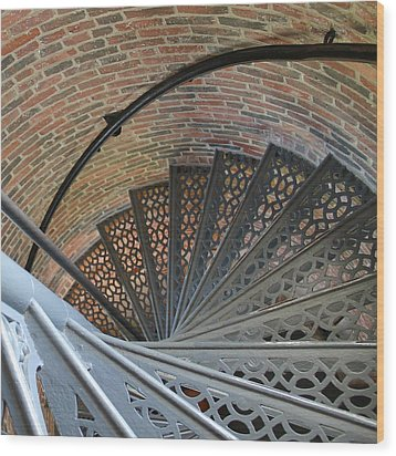 Wood Print featuring the photograph Lighthouse Stairs by Colleen Williams