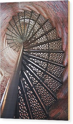 Lighthouse Steps Wood Print