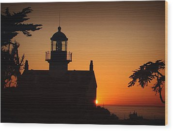 Wood Print featuring the photograph Lighthouse by Steve Benefiel